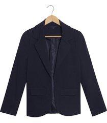 blazer patprimo básico solapa ancha azul