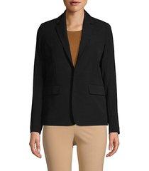 textured button-front blazer