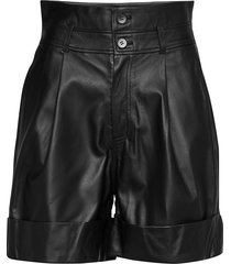 alida shorts leather shorts svart custommade