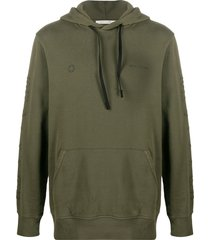 1017 alyx 9sm sleeve-logo hooded sweatshirt - green