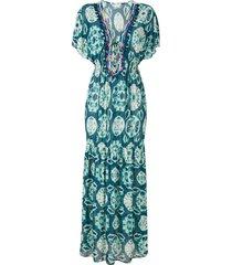 brigitte tie-dye kaftan - blue