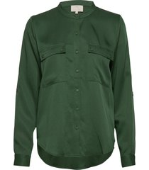 emissa shirt blouse lange mouwen groen minus