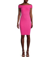 ted baker women's ribbed bodycon dress - bright pink - size 2 (6)