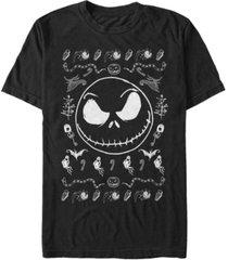 fifth sun men's jack spooky sweater short sleeve t-shirt