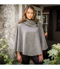 the mucros poncho gray one size