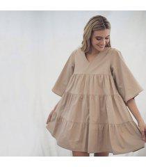 vestido lorenza caqui