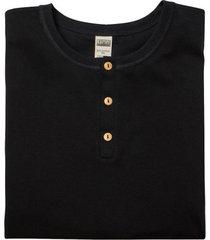 shirt met lange mouw van bio-katoen met knoopsluiting, zwart 6
