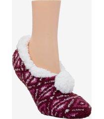 cuddlduds sherpa lined fuzzy ballerina slipper socks