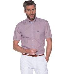 campbell casual shirt met korte mouwen roze