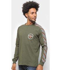 camiseta ecko manga longa e949a masculina - masculino