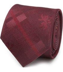 men's lannister lion plaid tie