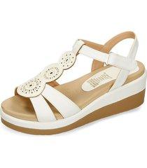 sandalias de plataforma blanco bata hastond mujer