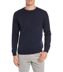 men's rodd & gunn queenstown wool & cashmere sweater, size large - blue