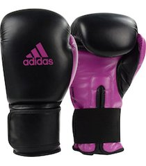 luvas de boxe adidas power 100 smu colors - 12 oz - adulto - preto/rosa esc