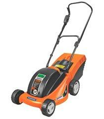 cortador de grama elétrico 1300w 110v laranja e preto