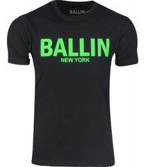 ballin est. 2013 heren t-shirt regular fit zwart neon groen