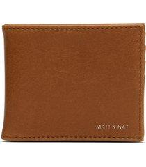 matt & nat rubben folded wallet vintage, chili matte nickel
