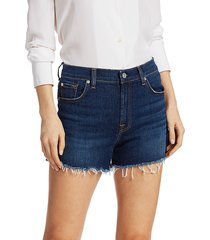 7 for all mankind women's high-rise cut-off denim shorts - fletcher drive - size 25 (2)