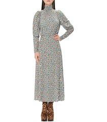 women's afrm poppy cutout back long sleeve maxi dress