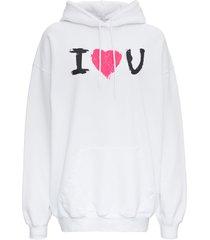 balenciaga cotton sweatshirt with front print