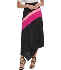 dkny pleated asymmetrical skirt