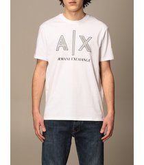 armani exchange t-shirt armani exchange basic cotton t-shirt with logo