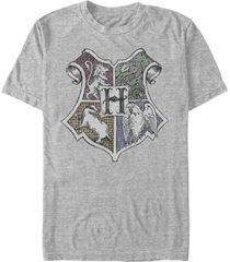 fifth sun men's hand drawn crest short sleeve crew t-shirt