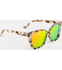britney angular square sunglasses - tortoise