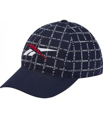 gorra azul  reebok classics checks stripes