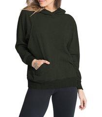 women's bun maternity relax daily maternity/nursing hoodie, size large - green