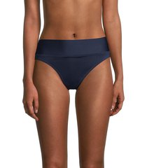 sperry women's high-waist bikini bottom - blue - size s