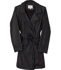 matt & nat nora womens waterproof trench coat, black