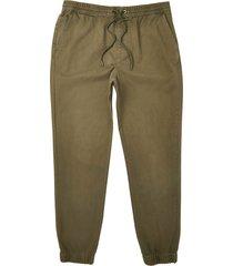 river island mens big & tall khaki washed chino pants