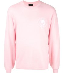 rta back bone sweater - pink