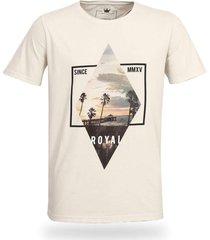 camiseta royal brand beach bege