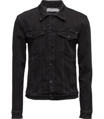 classic jacket - ric jeansjacka denimjacka svart calvin klein jeans
