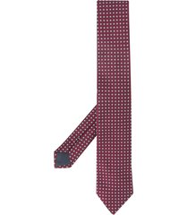 ermenegildo zegna square patterned tie - red