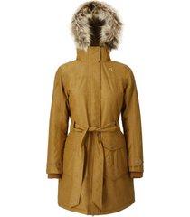 abrigo mujer new abbie mostaza doite