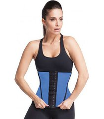 cinta modeladora waist trainer azul esbelt 062wt