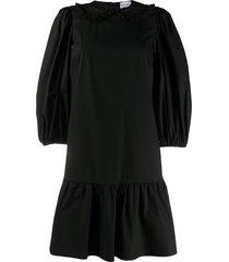 redvalentino peter pan collar shift dress - black