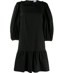 redvalentino peter pan collar shift dress - black