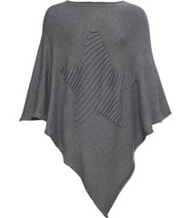 poncho con stella (grigio) - bpc bonprix collection
