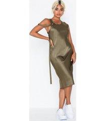 helmut lang harness satin dress. loose fit