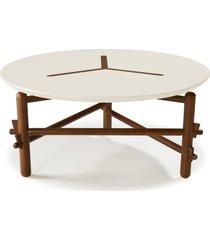 mesa de centro twist 761 cacau/branco - maxima