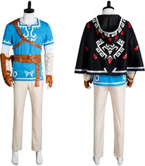 the legend of zelda breath of the wild link cosplay costume uniform outfit suit
