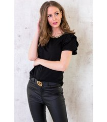 chain top luxury zwart