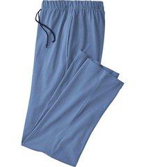pyjamabroek, jeansblauw-gemêleerd xl