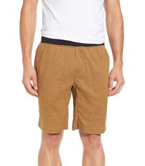 prana 'vaha' shorts, size x-small in russet at nordstrom