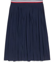 tommy hilfiger adaptive women's pleated skirt with adjustable waist