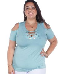 blusa besni plus size feminina - feminino
